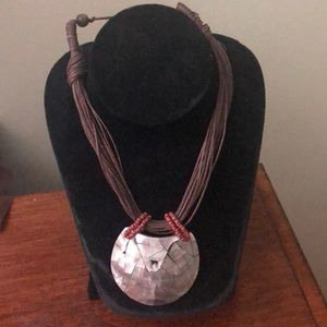 Brown and Shell Necklace